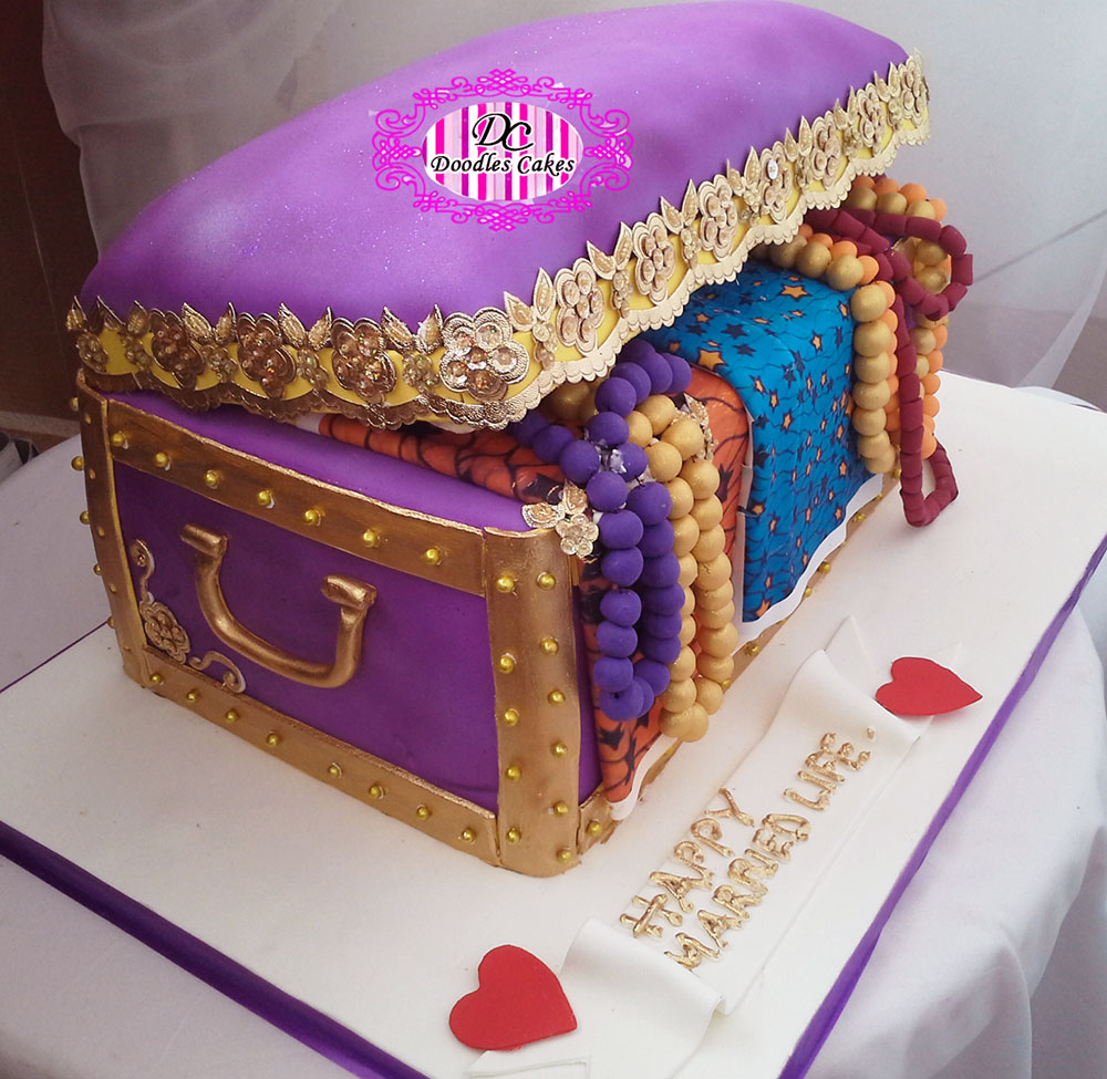 Beautiful Nigerian Traditional Wedding Cakes